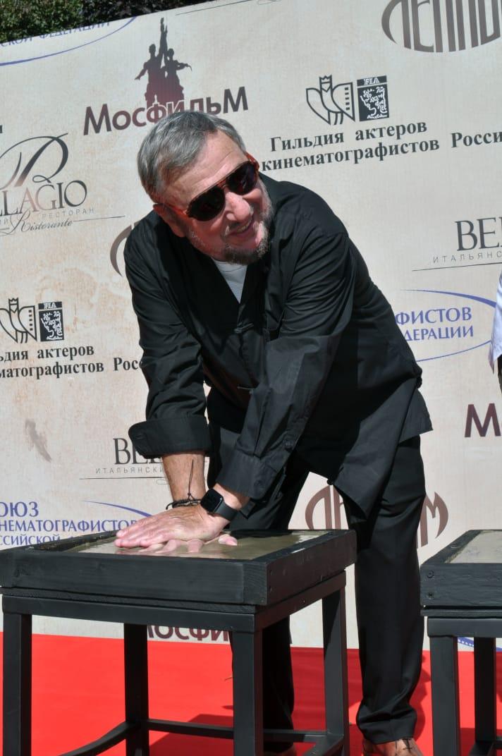 П.С.Лунгин на Площади звезд российского кино